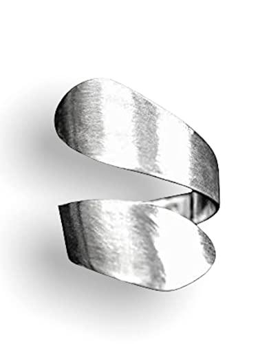 Silber Ring Damen Offen Breit - 925...