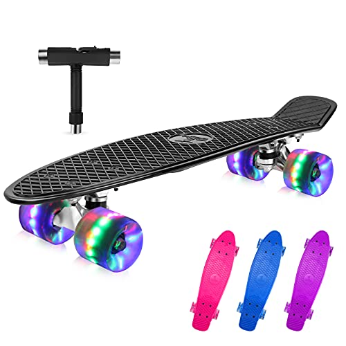 BELEEV Skateboard 22 Zoll Komplette Mini...