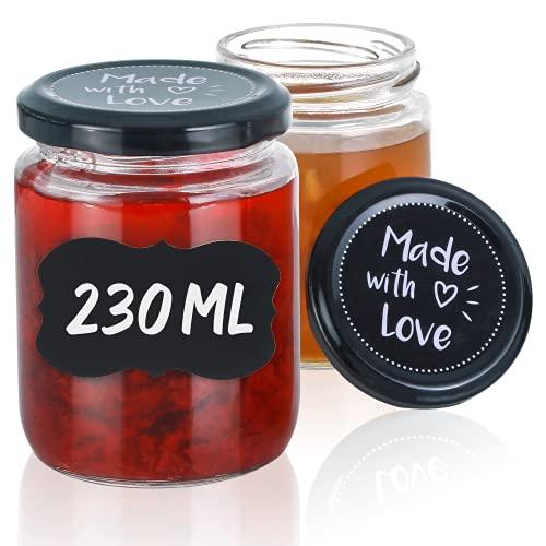 Praknu 25 Marmeladengläser 230 ml mit...