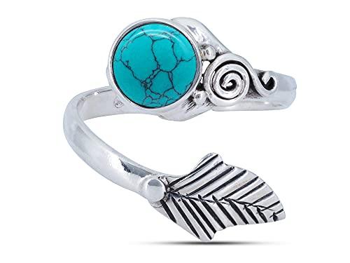 Ring Silber 925 Sterlingsilber Türkis...