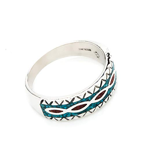 Indianerschmuck Ring Türkis Koralle...