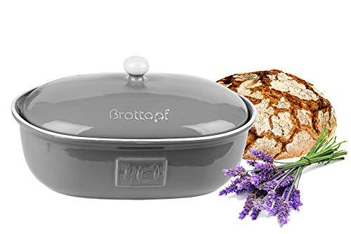 BigDean Brottopf Toskana Grau Brotkasten...