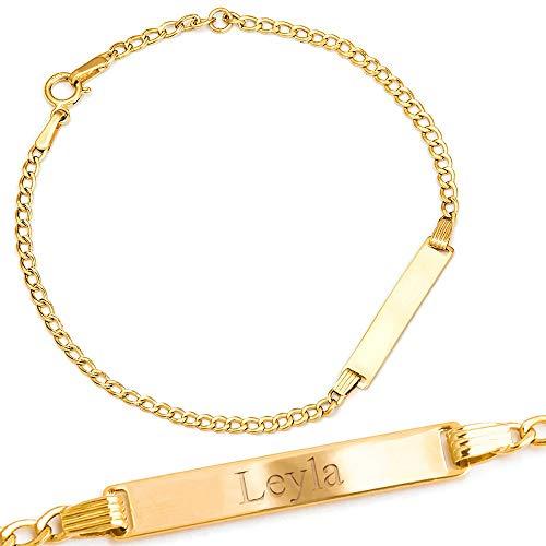 Maverton ID Kinder Armband 585 Gold -...