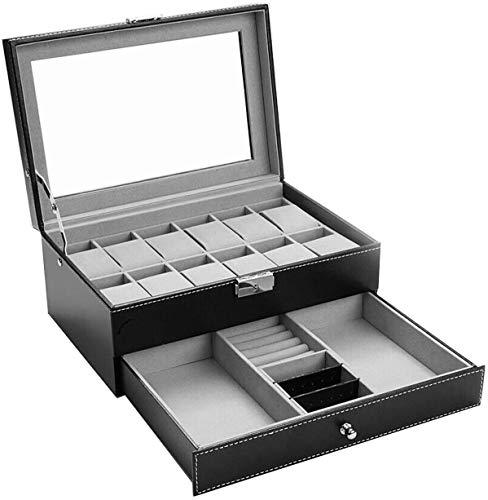 Uhrenbox-12 Slots Mens Uhren Organizer...