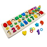 Alytimes Holzblöcke Puzzles Kinder Spielzeug für Kleinkinder Vorschule Lehre Früherziehung Spielzeug für die Zählung der Zahlen