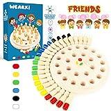 WEARXI Memory Spiele Spielzeug ab 2 3 4 jahren für Draußen Kinder, Outdoor Spiel Spielzeug Kleine Geschenke für Kinder, Gedächtnis Schach Holz Lernspielzeug ab 2 3 jahre, Family Brettspiele für Kinder