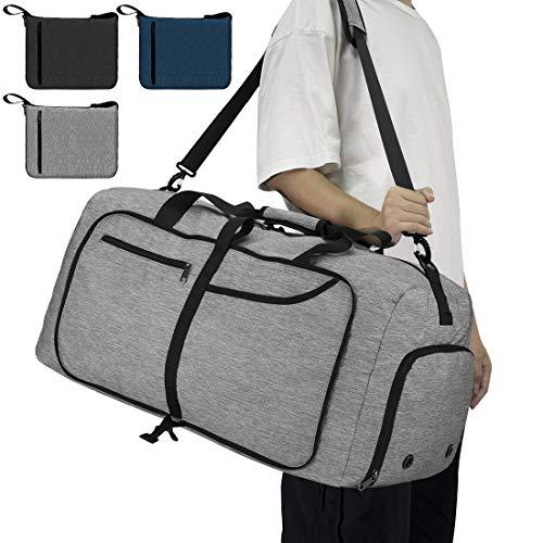 NEWHEY Reisetasche Groß 65L Faltbare...