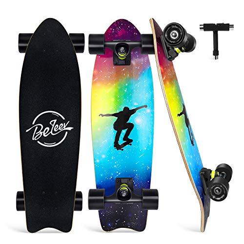 BELEEV Skateboard 27x8 Zoll Komplette...