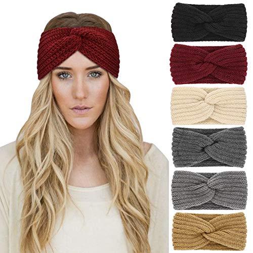 DRESHOW 6 Stück Stirnband Damen Winter...