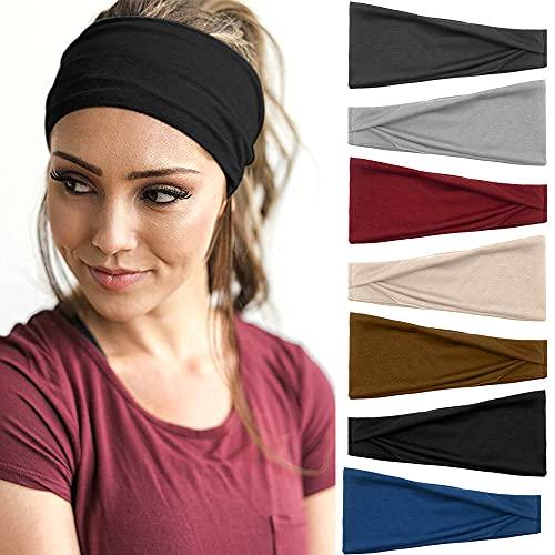 7 Stück Stirnbänder Damen Sport...
