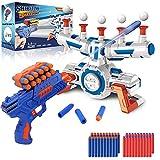 Elektrische Hover Zielscheibe für Nerf Pistole, Digitales Ball Ziel mit 1 Spielzeug Waffe, 10 schwimmende Kugel, 40 Schaumstoffpfeile, Kinder Gewehr mit Munition, Schießspiel Geschenk 6-15 Jahre Junge