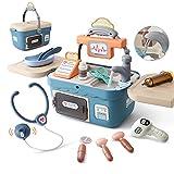 OR OR TU 18 Stück Kinder Arztkoffer Spielzeug,Doktorkoffer zum Rollenspiel,Arzt Medizinisches Spielset Spielzeug Kinder,Arzt Set Kinderspielzeug Geschenke für Mädchen Junge ab 3 Jahre
