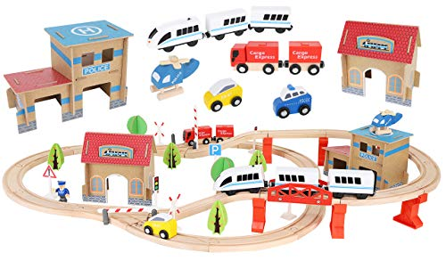 Holzeisenbahn Eisenbahn Kinder Zug...
