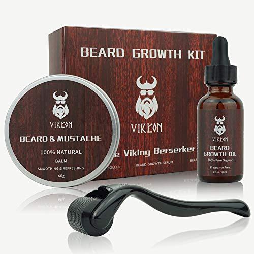 Beard Growth Kit, VIKICON Bartpflege...