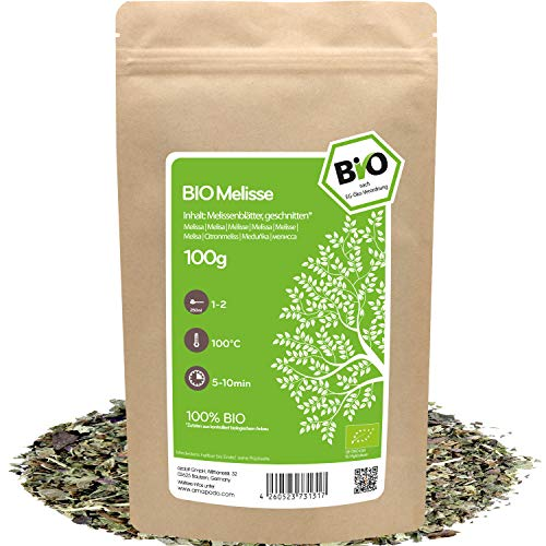 amapodo - Zitronenmelisse Tee Bio 100g -...