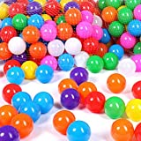 Schramm® 100 Stück Bälle für Bällebad 5,5cm Bälle für Kinder Bällebäder Babybälle Plastikbälle Ballpool Ohne Weichmacher 100er Pack