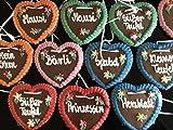 10 Stück Lebkuchen Herz Gemischte Farben und Sprüche Kindergeburtstag Wurfmaterial Lebkuchenherzen