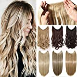 50cm Haarverlängerung Haarteil Extensions Ein Tressen Haare Haarverdichtung Gewellt - Bleichmittel Blond