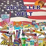 QueenBox® 🍭Süssigkeiten aus aller Welt Großpackungen   25 x Süßigkeiten Mix   USA Box   Asia, Russia, Arabic Schokolade 🍫   Party Box   Snackbox   Candy Mix 🍬 asiatische snacks