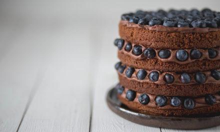 Blaubeer-Schokoladen Torte