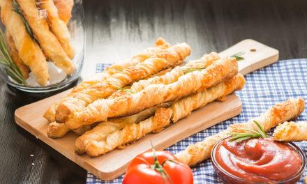 Knusperstangen aus Blätterteig – Leckerer Snack für Zwischendurch