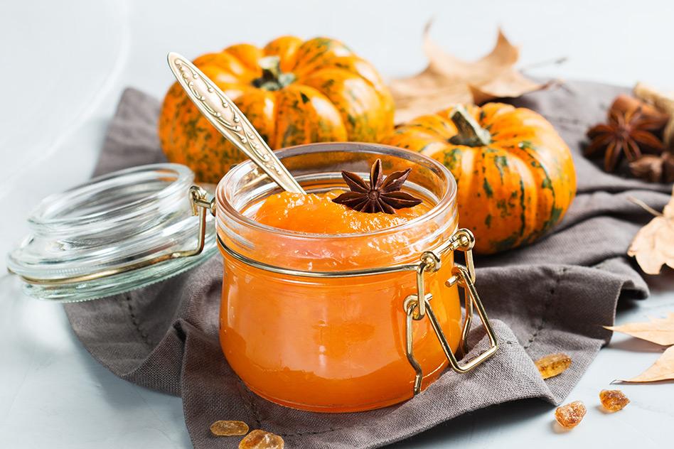 Winterliche Kürbis-Apfel-Marmelade Mit Orangensaft