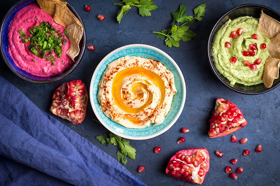 Dreierlei Hummus | Hummus Variationen