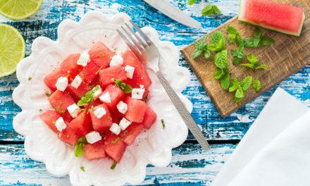 Sommerlicher Melonen-Feta-Salat