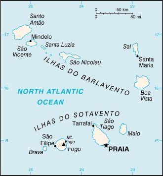 CIA-Karte von Kap Verde