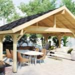 Ein Gartenpavillon mit dem LogFoot™ Fundament günstig selbst bauen